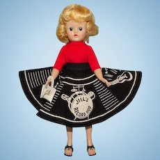 Vogue Jill Doll in Record Hop Outfit Blond Angel Cut Hairstyle 1950s