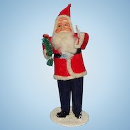 Antique Japan Christmas Santa Claus St Nicholas Carrying Brush Tree 6in