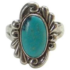 Bell Trading Post Navajo Turquoise Ring Size 5.25 Native American Signed
