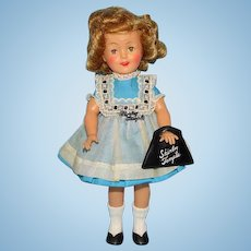 Ideal Shirley Temple 12In Vinyl Doll in School Dress Pinafore Original Box 1950s