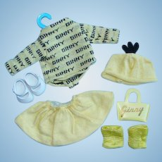 Vogue Ginny Doll 130 For Rain or Shine Yellow Knit Outfit 1954