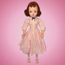 Madame Alexander Cissy Doll in Pink Stripe Shirtwaist Dress Red Hair 20 Inch
