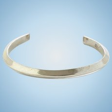 Vintage Southwestern Sterling Silver Carinated Stacking Cuff Bracelet Heavy 25.8 Grams