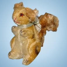 Vintage Steiff Possy Squirrel Mohair and Plush 6 Inch 1957-69