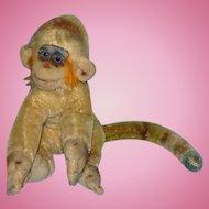 Vintage Steiff Mungo Monkey Mohair Body 6 Inch