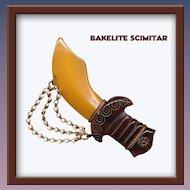 Gorgeous Bakelite Scimitar - Book Piece REDUCED