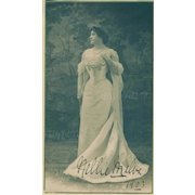 """""""Nellie Melba, World Renowned Soprano"""" 1903 Autographed Photograph!"""