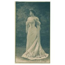 """Nellie Melba, World Renowned Soprano"" 1903 Autographed Photograph!"