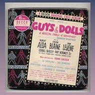 Decca Records 45rpm Original Cast Guys & Dolls