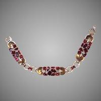 SPARKLING Trifari RED Multi-shape Bracelet JEWELED Symphony 1950