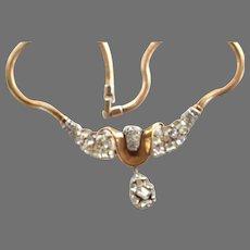 SPARKLING Trifari Clear Drop Necklace JEWELED SYMPHONY Multi-shape