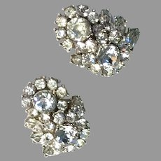 TRIFARI Sparkling Ice CLEAR Domed Earrings