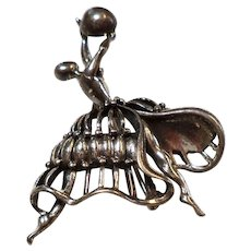 "Dancing Pin or Brooch Marked ""Sterling"" DANECRAFT"