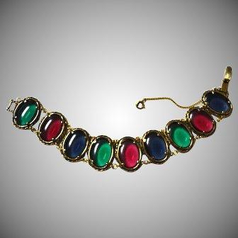 TRIFARI Renaissance Glass Disc Bracelet Red Blue Green