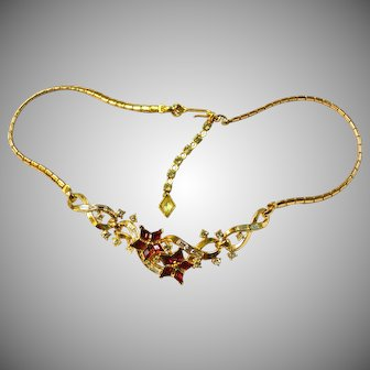 """TRIFARI """"Twinkles"""" Necklace Red Stars"""
