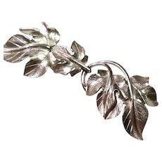 TRIFARI Dangling PIN Kunio Matsumoto Brushed Silver-tone