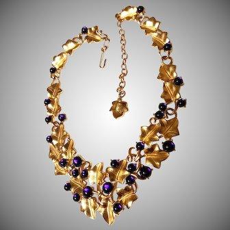 CLASSIC Trifari Kunio Matsumoto Purple Grapes Necklace