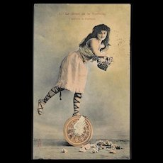 1905 French Wheel of Fortune Postcard - Red Tag Sale Item