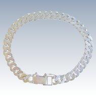 Curb Link Bracelet Sterling Silver Vintage 925 Chain