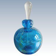 Mdina Studio Art Glass Paperweight Blue Green Perfume Bottle