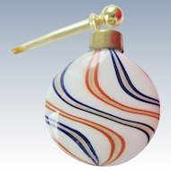 German Lutz Aventurine Glass Miniature Lay Down Perfume Bottle