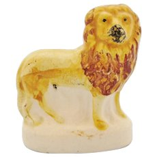 Antique Staffordshire Small Standing Lion