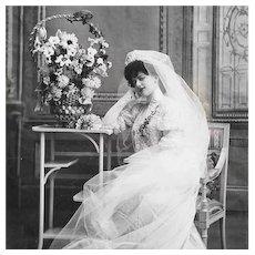 Real Photo Postcard 1907 Bride
