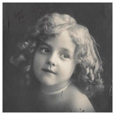 RPPC Girl With Pearls