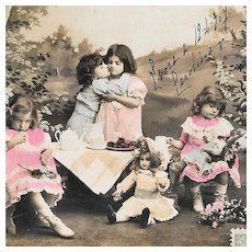 1907 Doll Picnic RPPC