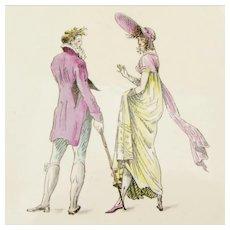 Nine Early French Fashion Plates H.B.C.M. Rouard