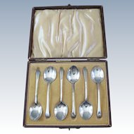 Antique Sterling Silver Demitasse Spoons Boxed Set