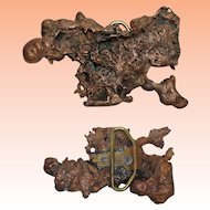 Copper Mineral Buckle Rough Free Form 4 x 3
