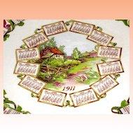 Arizona Country Scene Calendar Plate 1911 Dresden China