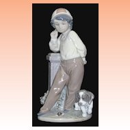 Lladro Best Foot Forward Figurine # 5738   Boy with Dog  Retired