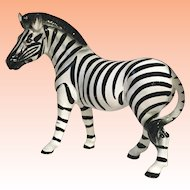 HUGE Zebra Figurine Hand Painted