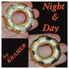 Kramer Night and Day Convertible Rhinestone Brooch