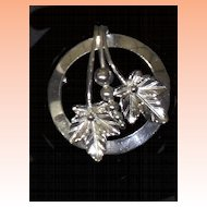 Sterling Silver Maple Leaf Brooch by Binder Brothers Signed