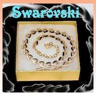 Swarovski Rhinestone Enamel Necklace 16'