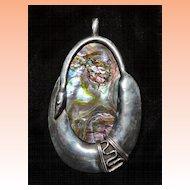 Sterling Silver Snake Abalone Pendant