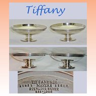 Antique Tiffany Sterling Silver Tazzas   Set of two  C 1915