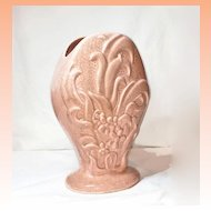 Vintage Pfaltzgraff Pink Speckled Large Vase C1930's