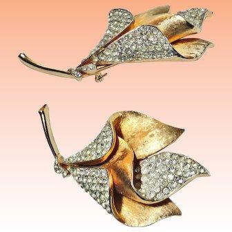 Large Francois 3D Tiered Rhinestone Flower Brooch
