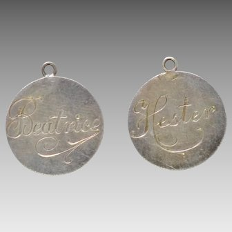 Two Love Token Charms, Roosevelt Dimes, Hester and Beatrice