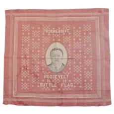 Theodore Roosevelt Progressive Party Political Bandana Battle Flag