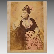 Antique Tinted Cabinet Photo of Opera Singer Clara Louise Kellogg