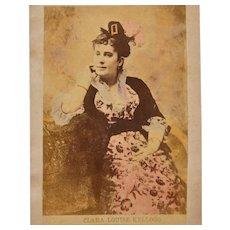 Antique Tinted Cabinet Photo of Opera Singer Clara Louise Kellogg