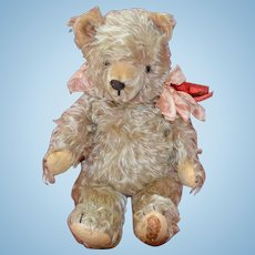 Vintage Shaggy Mohair German Teddy Bear Circa 1930-1950