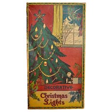 Vintage Christmas Lights Empty Box Circa 1920