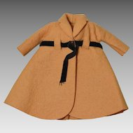 Tagged Vogue Jill Doll Tan Felt Coat Circa1960