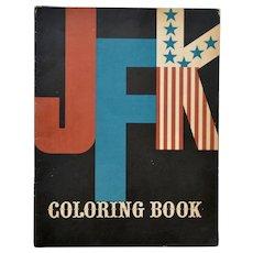 Vintage JFK Coloring Book 1962, Mort Drucker Illustrations, First Edition